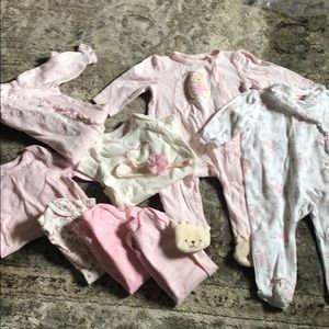 6 month lot of onesies and sleepers